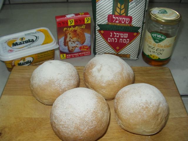 ソフトフランスっぽいパン。初挑戦ながら及第点。