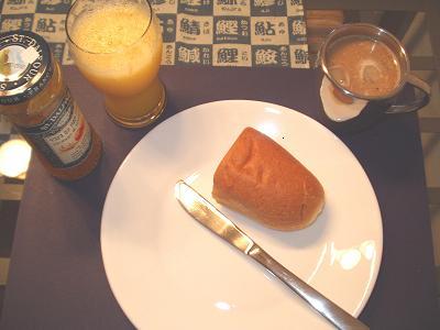 朝ごはん。毎朝同じです