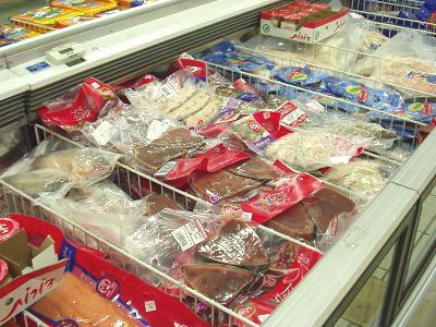 マグロの切り身(加熱用)も冷凍パック